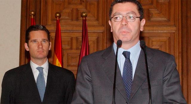 Gallardón con Urdangarin en 2004. | Jaime Villanueva