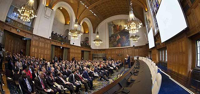 Ban Ki-moon, durante su intervención en La Haya. | Reuters
