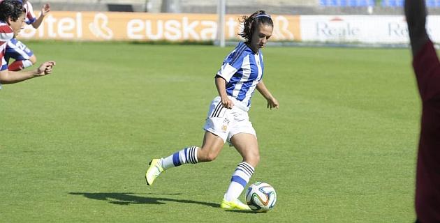 Nahikari García, durante un partido con su equipo esta temporada / Real Sociedad