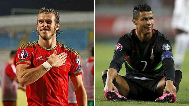 Bale, con Gales, y Cristiano, con Portugal