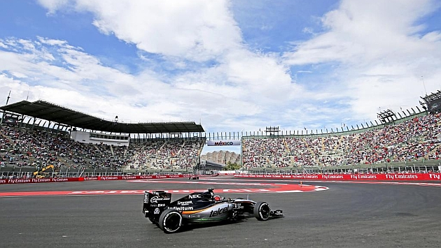 El Force India de Hulkenberg en los libres del GP de México (RV RACING PRESS)