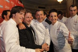 Jordi Cruz, Martín Berasategui, Joan Roca, Carme Ruscalleda y Romain Fornell.   Jordi Soteras