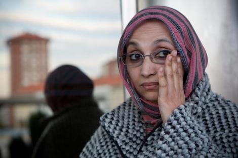 La activista Aminetu Haidar recibe este miércoles el premio René Cassin en Vitoria.   Mitxi