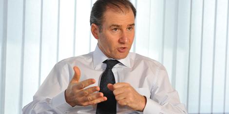 Ivan Glasenberg en la sede de la compañía en Suiza. | Afp