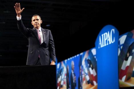 Barak Obama durante su intervención en el acto de AIPAC. | Afp
