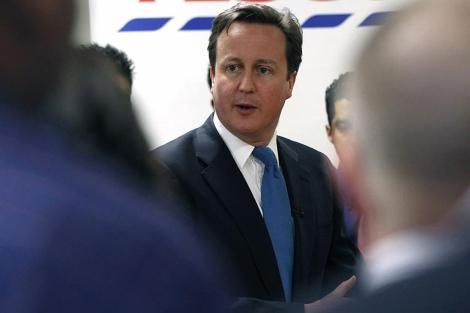 El primer ministro británico, David Cameron, en Londres. | Reuters