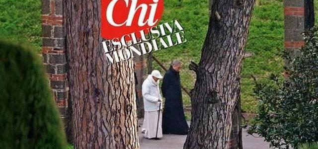 Las primeras imágenes del Papa emérito, publicadas por Chi.