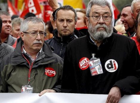 Los líderes sindicales de CCOO y UGT | Javier Barbancho