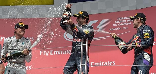 Gana Ricciardo y respira la TV