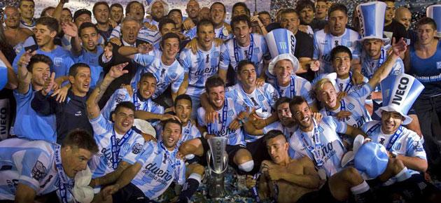 Racing, campeón de Argentina trece años después