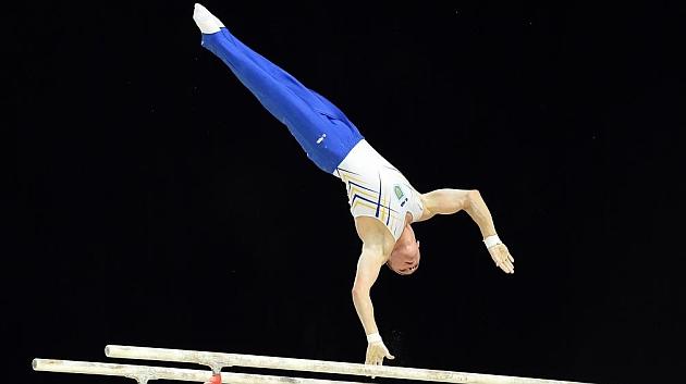 Oleg Verniaiev, durante la final. / AFP