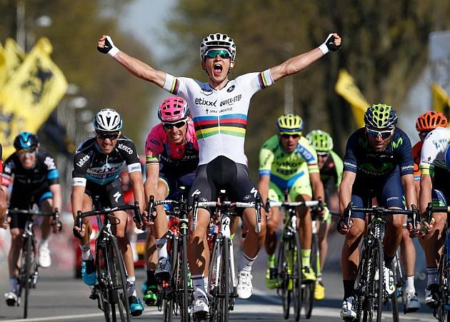 Michal Kwiatkowski, vencedor de la 50ª Amstel Gold Race. / Afp