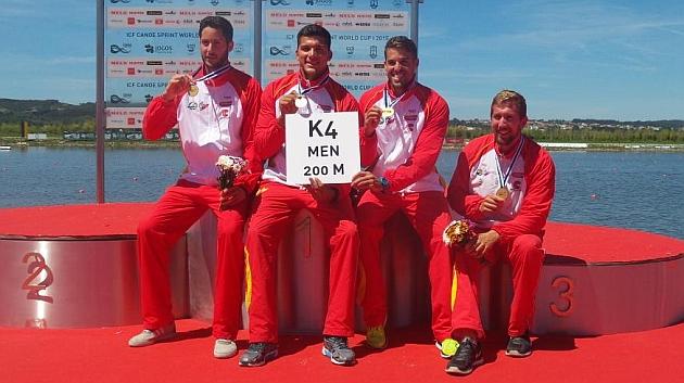 España, oro en K4 masculino en Portugal