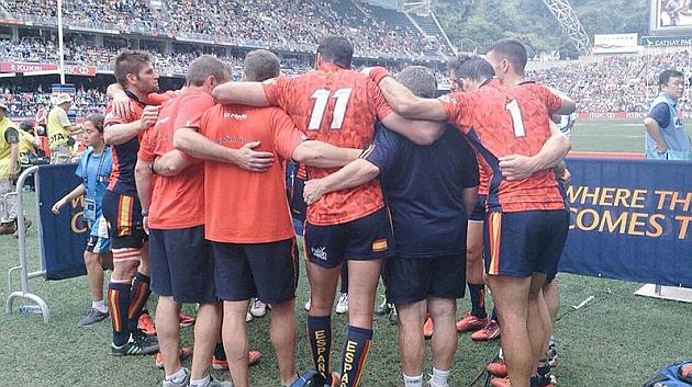 La selección olímpica, durante el pasado Seven de Hong Kong