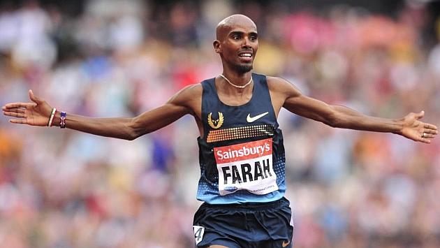 Mo Farah, en una carrera de 3000 metros de la Diamond League (2013). Foto: AFP