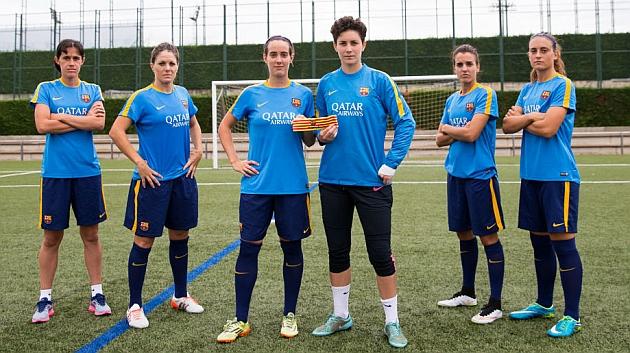 Las capitanas del Barcelona posan en la Ciudad Deportiva Joan Gamper / FC Barcelona