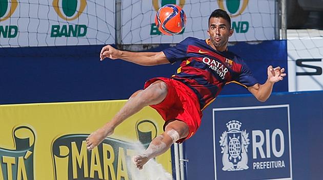El Barça se proclama campeón del Mundialito de fútbol playa