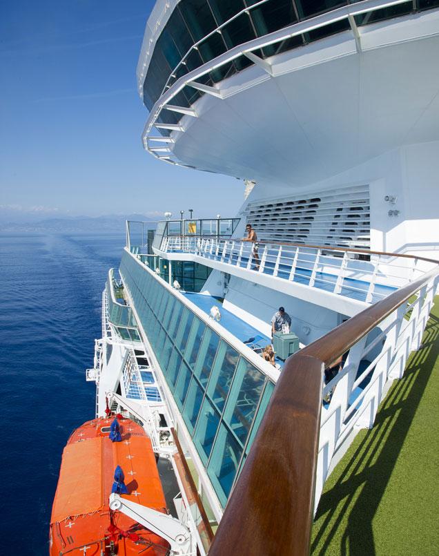 Día de relax desde la cubierta de un crucero de Pullmantur.