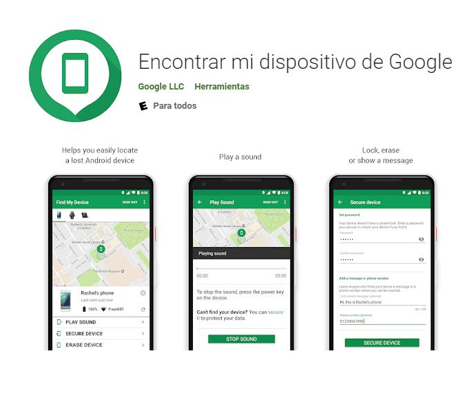 Apps que deberías tener en tu Smartphone Android find my device esta tuani