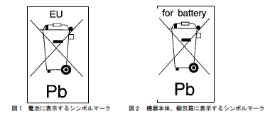 電池指令の対応マーク