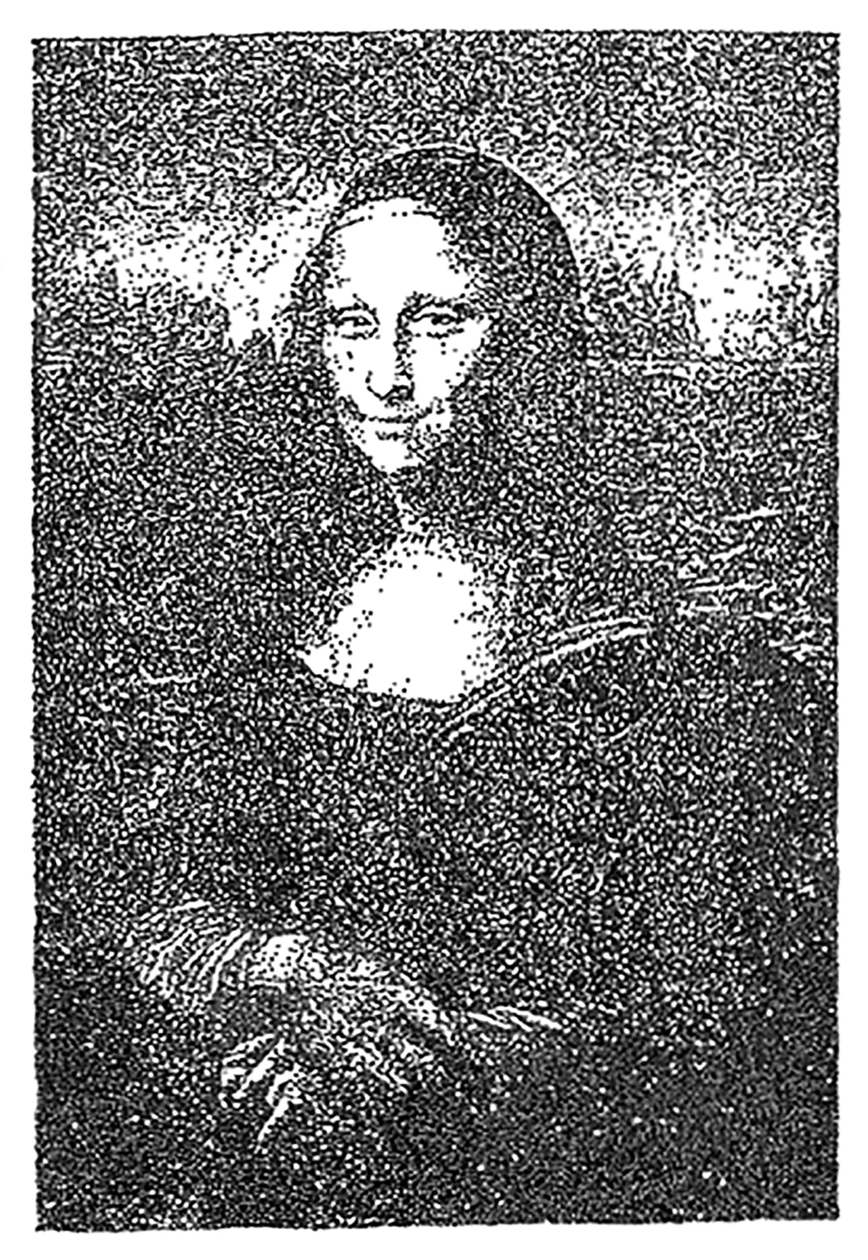 1000 drawings monalisa esteban peña art