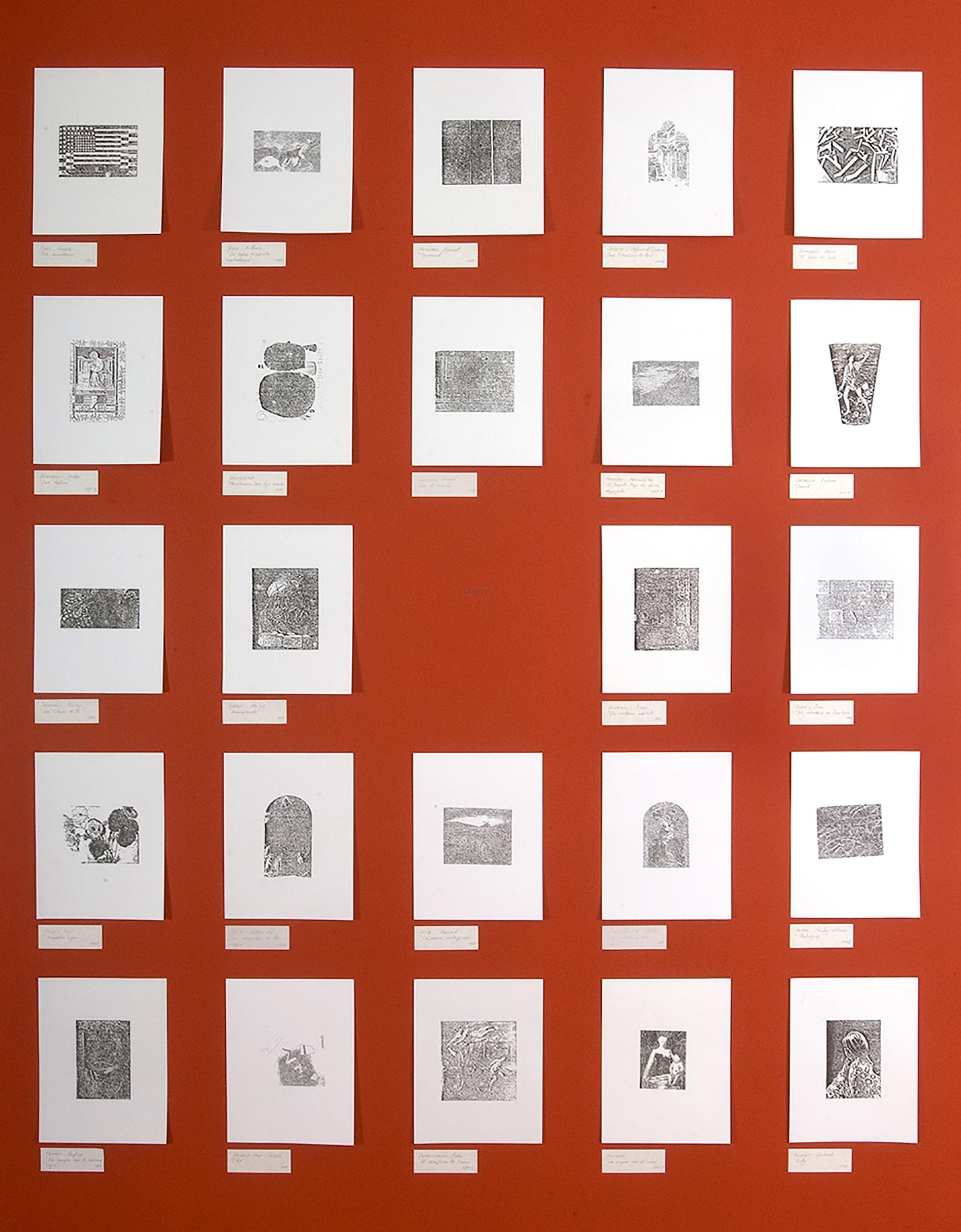 1000 drawings reds esteban peña art