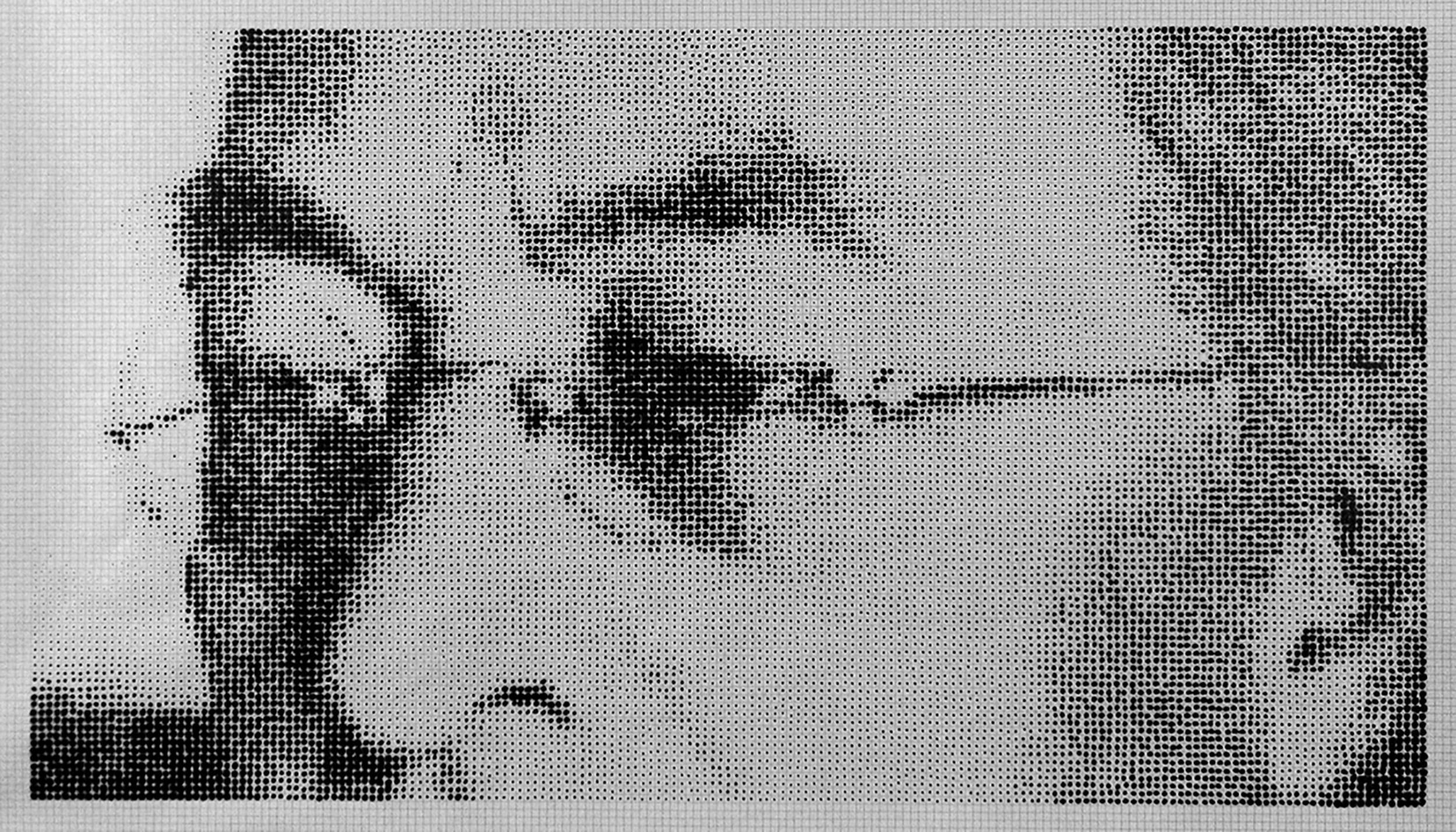 drawing dots ink kandinsky esteban peña art
