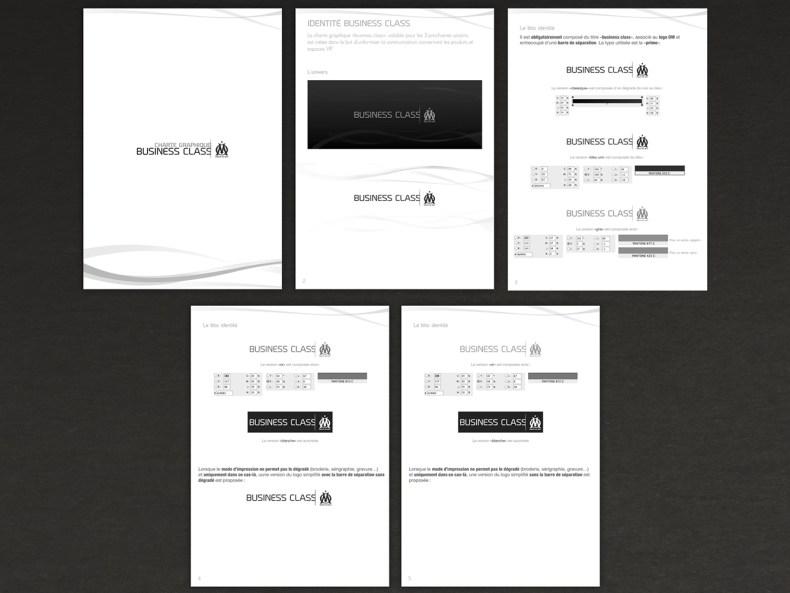 creation de la charte graphique OM Business Class