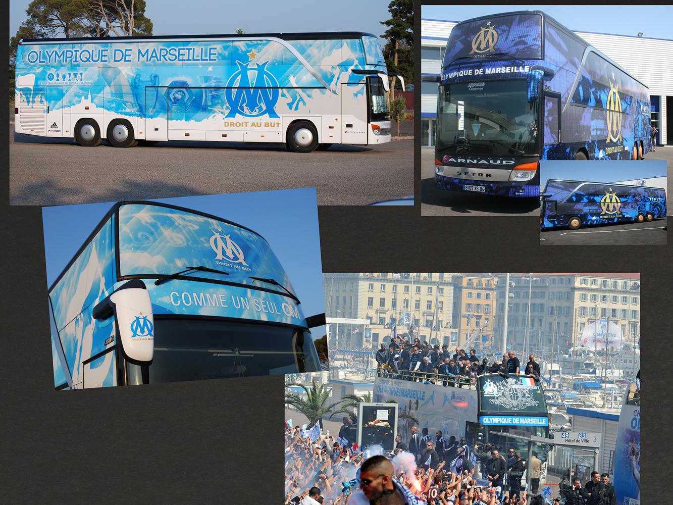 Bus du club de football Olympique de Marseille
