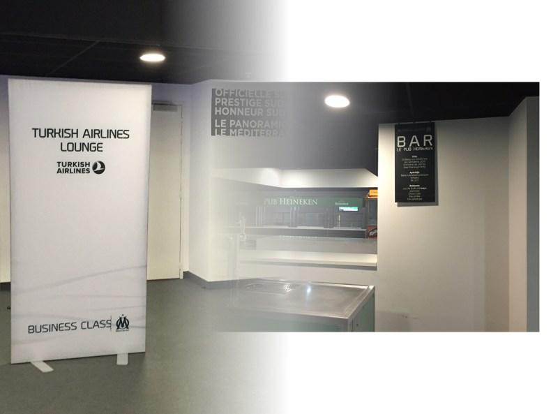 backdrop et signaletique OM business class stade velodrome