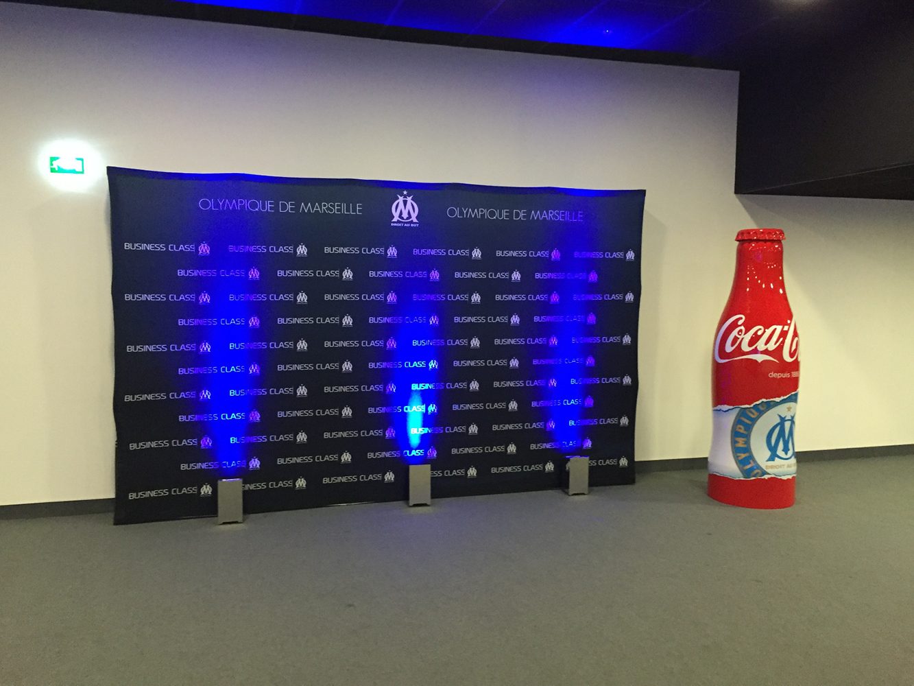 backdrop photocall OM business class stade velodrome