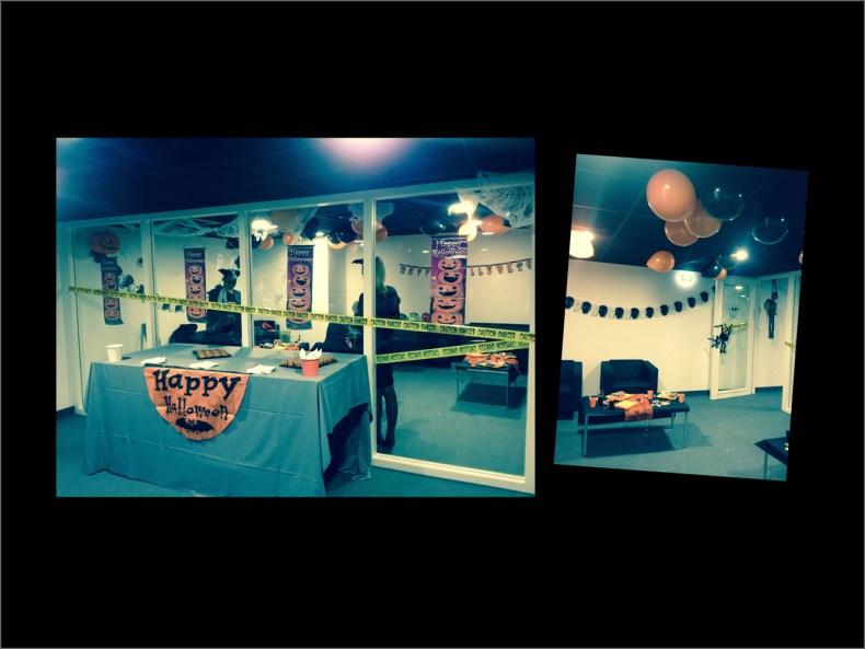 decoration halloween salon joueurs OM stade velodrome