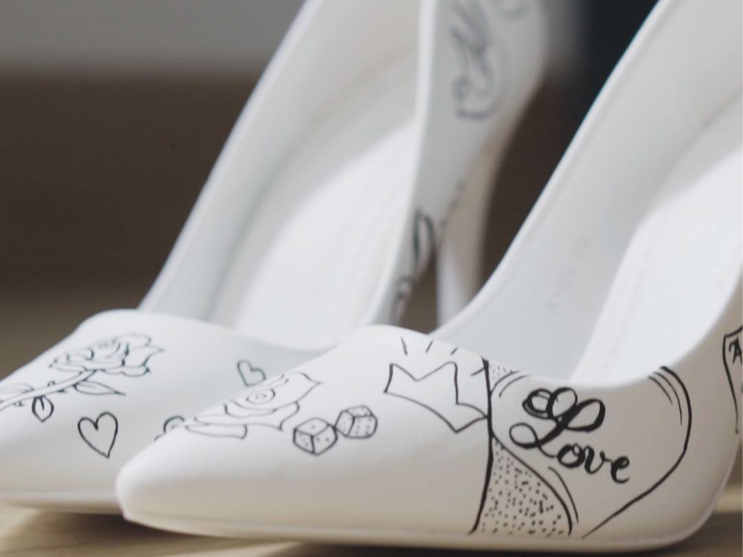 personnalisation chaussures mariée