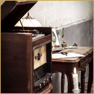 location poste radio retro