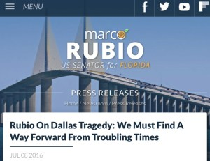 Press release on Rubio's Senate web page