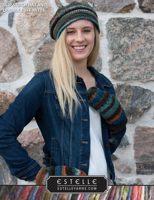 4a93fcc4f15 Slip-Stitch Hat   Double Cuff Mitts makes for a great weekend project and  will guarantee you will be warm