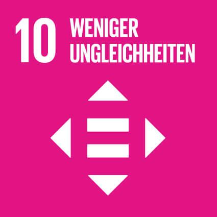 """Das Ziel 10 """"Weniger Ungleichheiten""""."""