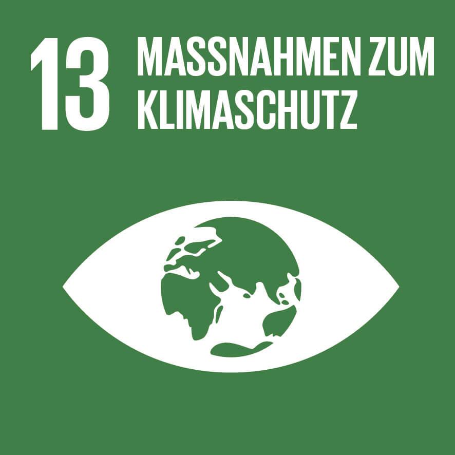 """Das Ziel 13 """"Maßnahmen zum Klimaschutz"""" ist wichtig für unsere Vision, Mission, Werte und Prinzipien."""