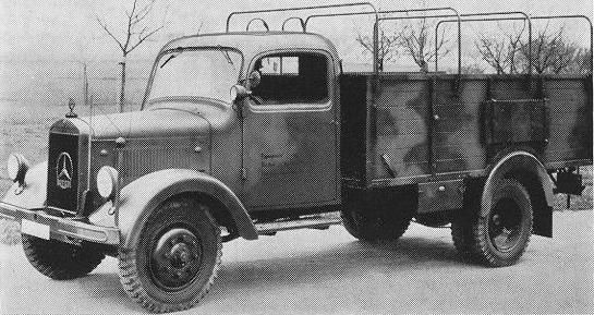 A model of truck that was often used by the German army