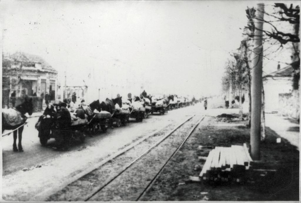 Escort of Jews to the camp at Sajmište