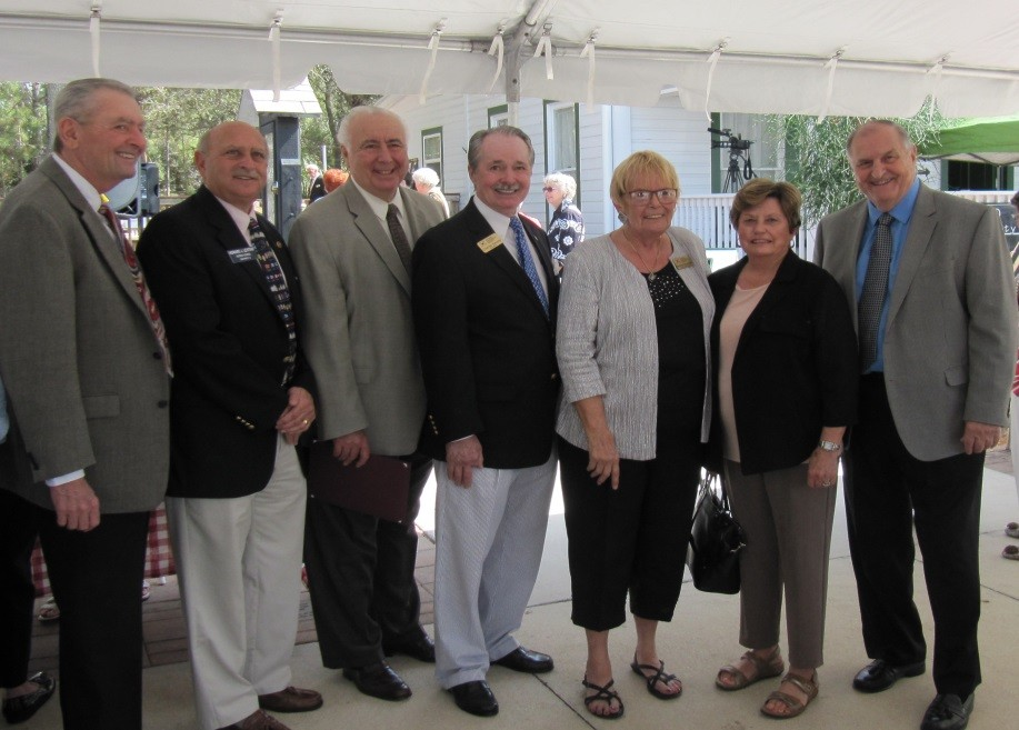 Left to right: Don Brown, Howard Levitan, Nick Batos, Charles Dauray, Beverly MacNellis, Katy Errington, Jim Boesch