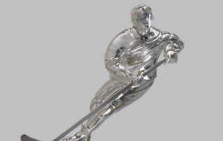 hockey sculpture