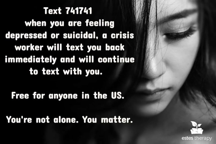 free text for depression crisis