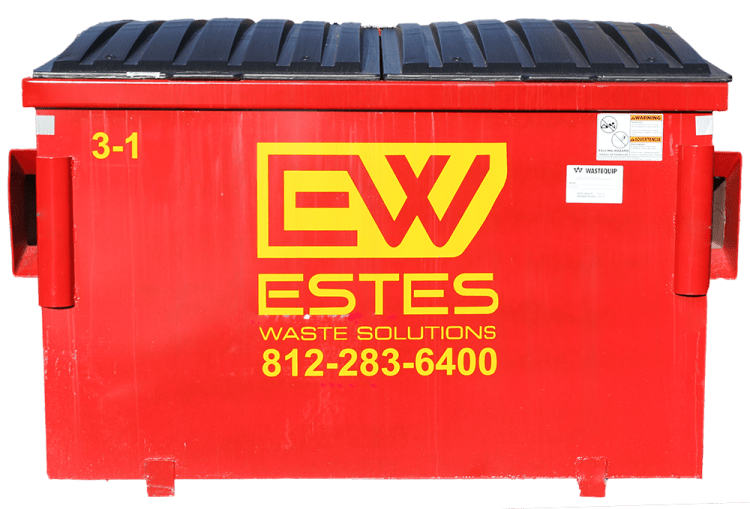 3 yard dumpsters are also ideal for small waste producing companies or those that require casters for easy relocation. They can be serviced as often as daily or as little as every other week.  These are available with top access only. They can also be configured with casters or locking lids.