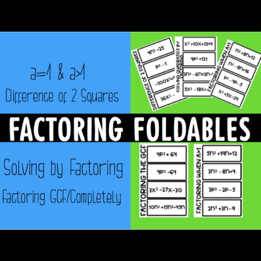 Factoring Polynomials Foldables Esther Brunat