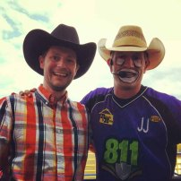 Richard from marketing meeting JJ the rodeo clown