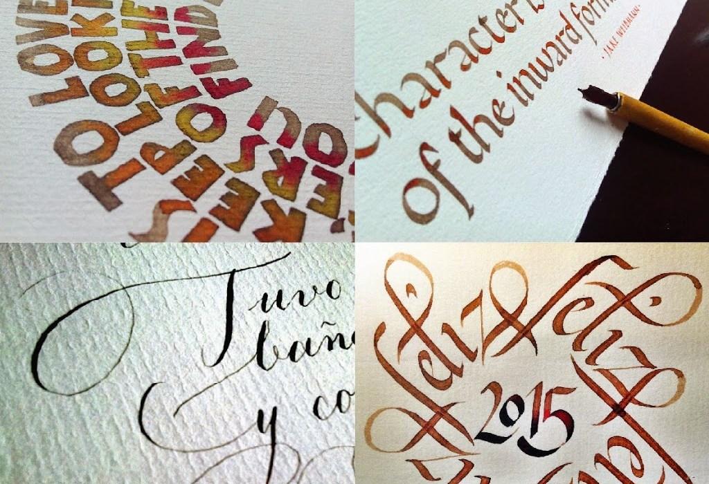 Muestras cursos de caligrafía