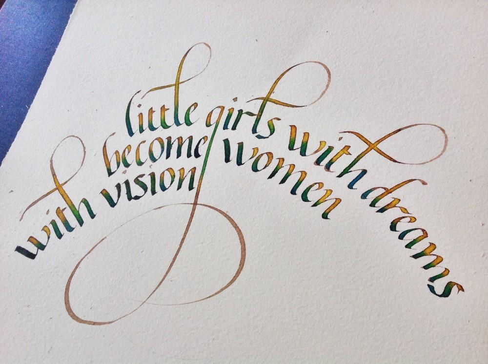 Curso de caligrafía itálica