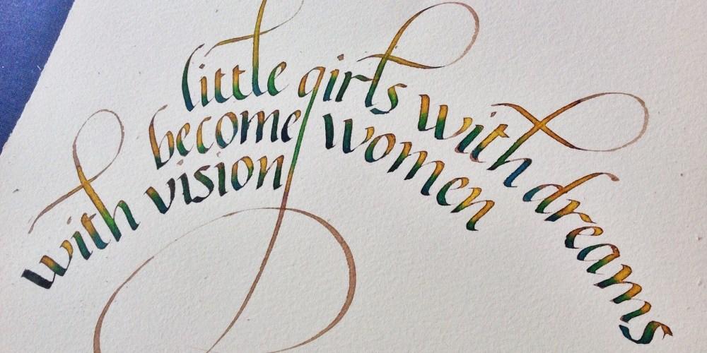 Fruto curso caligrafia italica, Esther Gordo