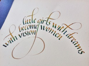 Fruto curso de caligrafía italica, Esther Gordo